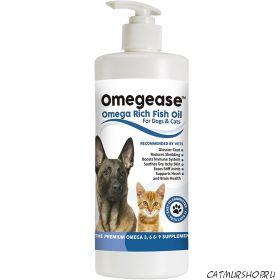 Omegease - Omega Rich Fish Oil для кошек и собак 473 мл.
