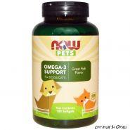 Омега-3 для собак и кошек,  180 желатиновых капсул
